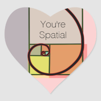 You're Spatial Heart Sticker
