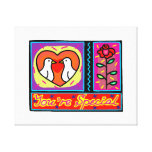 youre special collage dove rose stretched canvas prints
