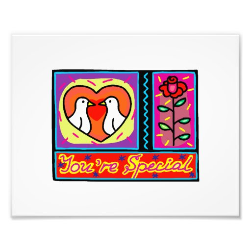 youre special collage dove rose photo print