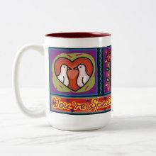 You're Special Kissing Love Birds Mug