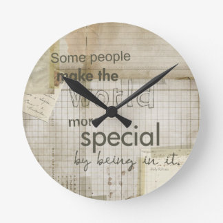 you're special message round wallclocks