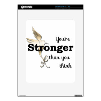 You're Stronger Than You Think Decal For iPad