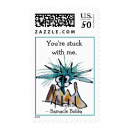 You're Stuck With Me Barnacle Postage