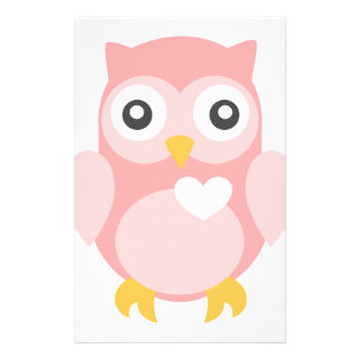 You're Such a Hoot in Pink Stationery