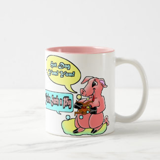 You're Such A Pig Two-Tone Coffee Mug