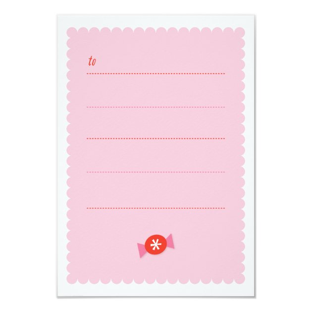 You're sweet classroom valentine 3.5x5 paper invitation card (back side)