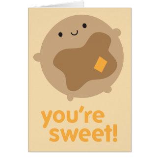 You're Sweet! Kawaii Pancake Card