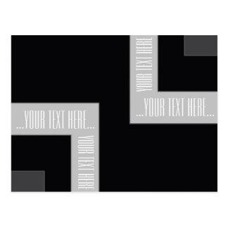 """You're Text Here"" Black/Grey Color Corner (MB) Postcard"
