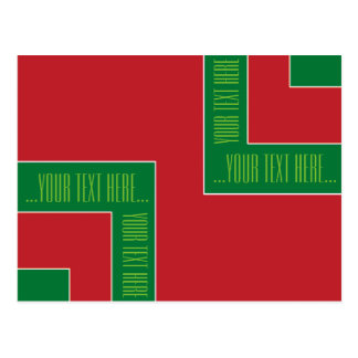 """""""You're Text Here"""" Red/Green Color Corner (MB) Postcard"""