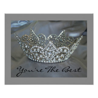 You're The Best Butterfly Crown Poster