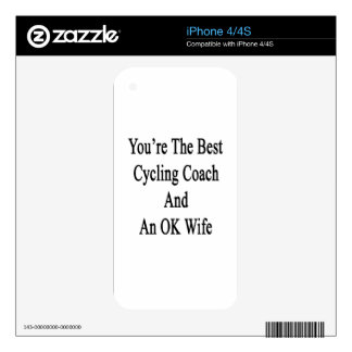 You're The Best Cycling Coach And An OK Wife Skin For iPhone 4