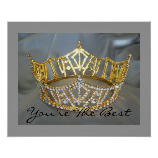 You're the Best Gold Crown Poster