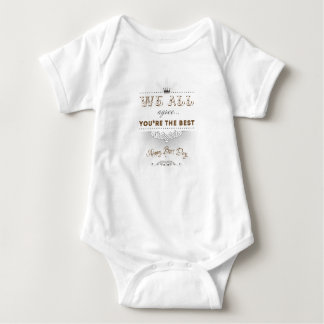 You're the best, Happy Boss's Day Baby Bodysuit