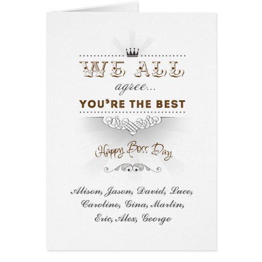 You're the best, Happy Boss's Day Greeting Cards