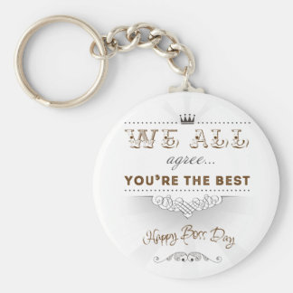 You're the best, Happy Boss's Day Llavero Redondo Tipo Pin