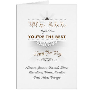 You're the best, Happy Boss's Day Tarjeta De Felicitación