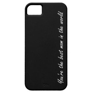 You're The Best Mom In The World - Black - iPhone SE/5/5s Case