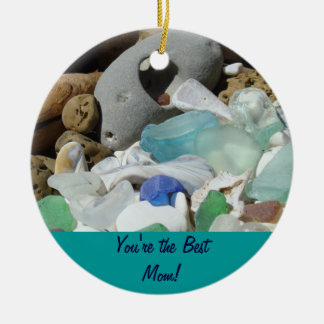 You're the Best Mom! Ornaments Seaglass Fossils