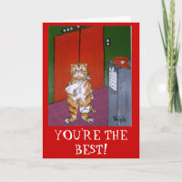 YOU'RE THE BEST! THANK YOU CARD