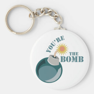 Youre The Bomb Basic Round Button Keychain