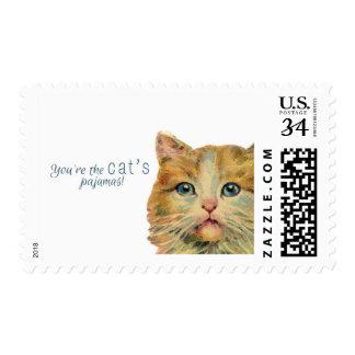 You're the cat's pajamas! - Postcard postage