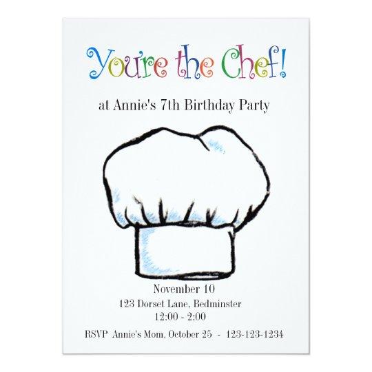 You're the Chef invitation