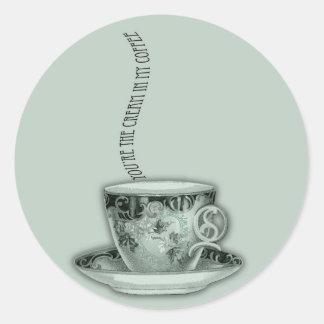 You're the Cream in My Coffee Valentine Classic Round Sticker