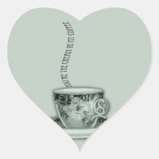 You're the Cream in My Coffee Valentine Heart Sticker
