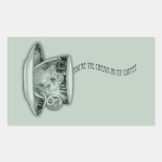 You're the Cream in My Coffee Valentine Rectangular Sticker