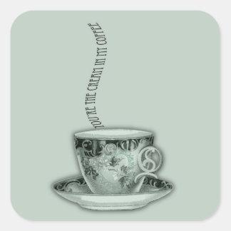You're the Cream in My Coffee Valentine Square Sticker