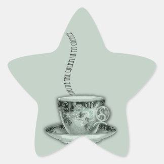 You're the Cream in My Coffee Valentine Star Sticker