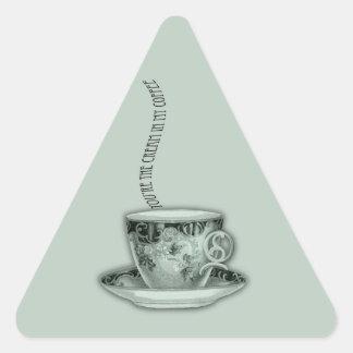 You're the Cream in My Coffee Valentine Triangle Sticker