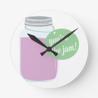 You're The Jam! Round Clock
