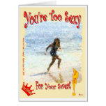 You're Too Sexy For Your Sweat! Stationery Note Card