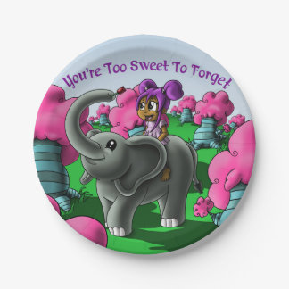 """""""You're Too Sweet to Forget"""" Birthday Paper Plates"""
