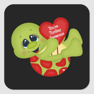 You're turtley Awesome turtle Valentine sticker