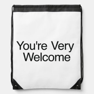 You're Very Welcome.ai Cinch Bags