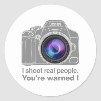 You're Warned! Classic Round Sticker