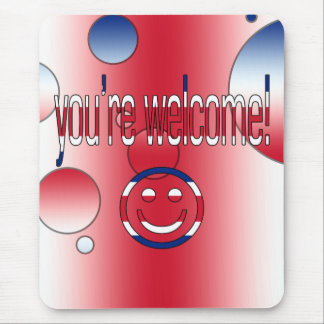 You're Welcome! Britain Flag Colors Pop Art Mouse Pad