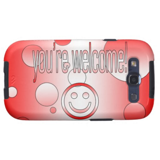 You're Welcome! Canada Flag Colors Pop Art Samsung Galaxy S3 Cover