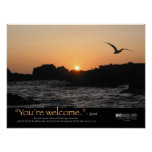 You're Welcome Sunset Poster