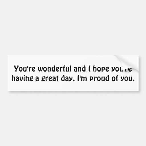 You Re Wonderful: You're Wonderful Bumper Sticker