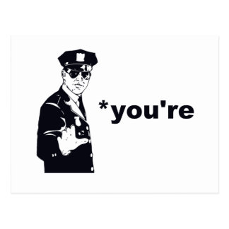 You're Your Grammar Police Postcard