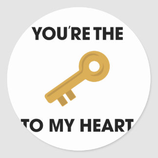YoureThe Key To My Heart Classic Round Sticker