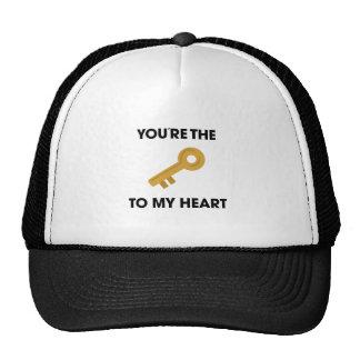 YoureThe Key To My Heart Trucker Hat
