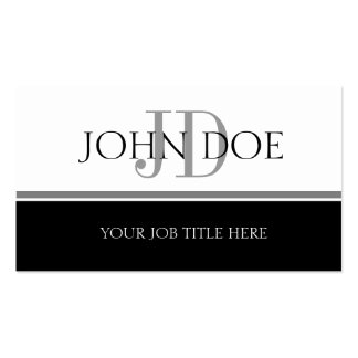 YourJobTitle S Stripe White Double-Sided Standard Business Cards (Pack Of 100)