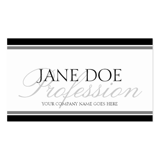 YourJobTitle Silver Script Business Card Template