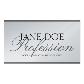 YourJobTitle Silver Script Platinum Paper Double-Sided Standard Business Cards (Pack Of 100)