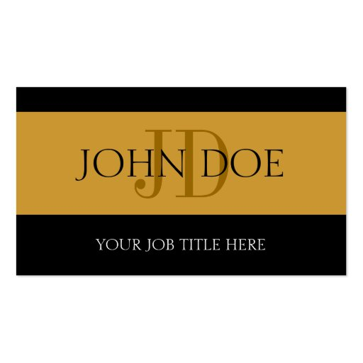 YourJobTitle Stripes Gold Business Card Templates