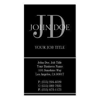 YourJobTitle Vertical Black Double-Sided Standard Business Cards (Pack Of 100)